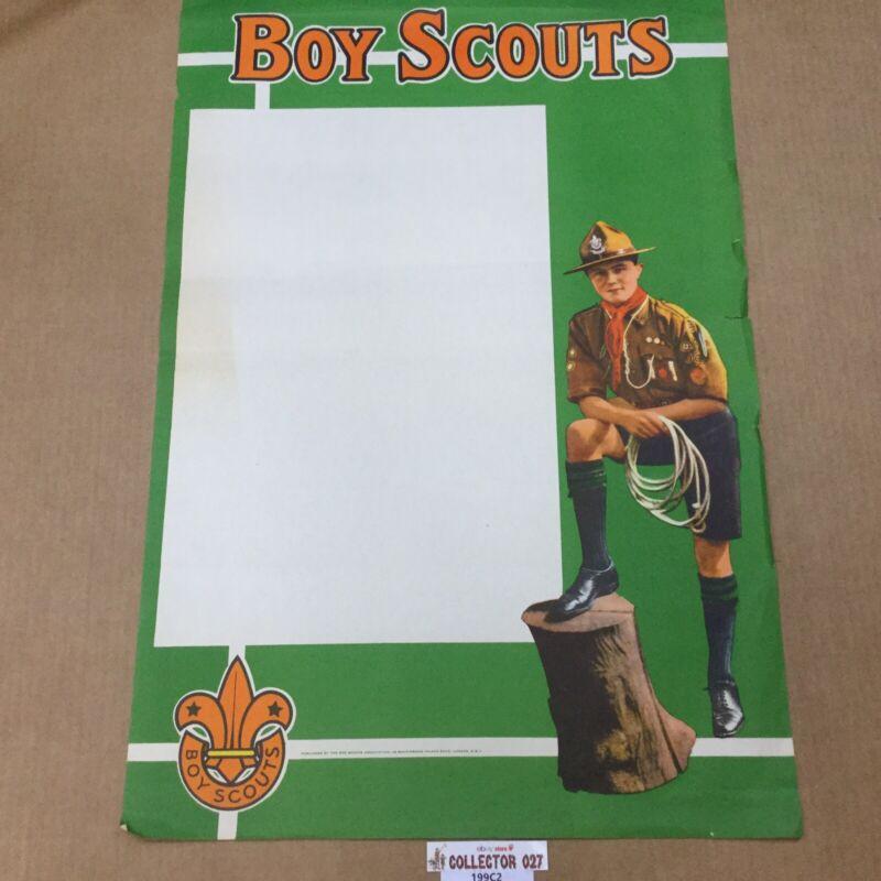 """Boy Scout Vintage British Poster Boy Scouts 29"""" x 20"""""""