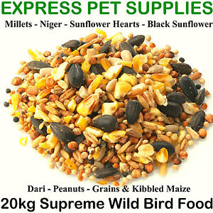 20kg-Brinvale-SUPREME-Wild-Garden-Bird-Feed-Mix-Food-Seeds