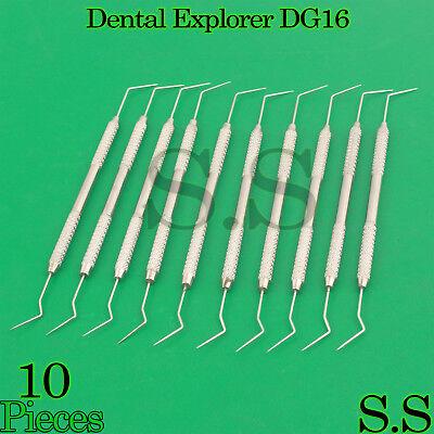 10 Dental Diagnostic Probe Endo Explorer Dg 16 Double Ended Instruments