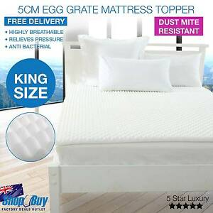 Free Delivery: Premium 5cm Egg Crate Mattress Topper Anti-bacter Box Hill Whitehorse Area Preview