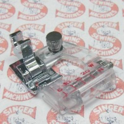 Singer Adjustable Bias Binder Foot Slant Shank for all Slant Sewing Machine 6289