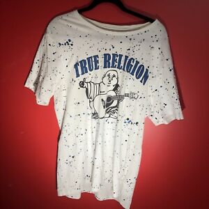 True Religion Mens Paint Splatter Tee Shirt Size L