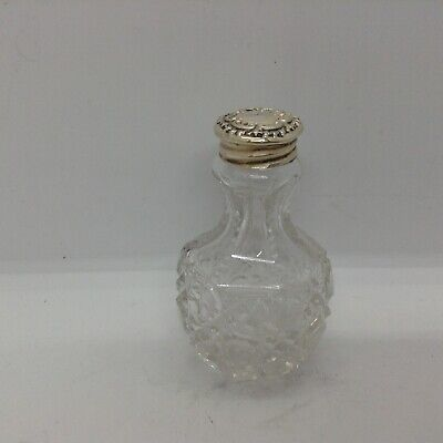 Antique Glass With Sterling Silver London 1905 Top Pepperette