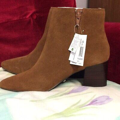 Ladies Kensie Lydenn Ankle Boots - Chestnut Suede Size 6