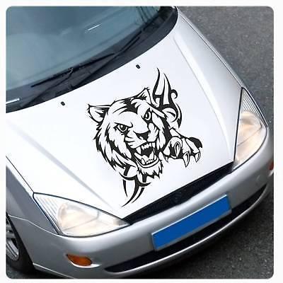 Tribal Tiger Motorhauben Auto Aufkleber Tigerkopf Katze Hauben Sticker A4035