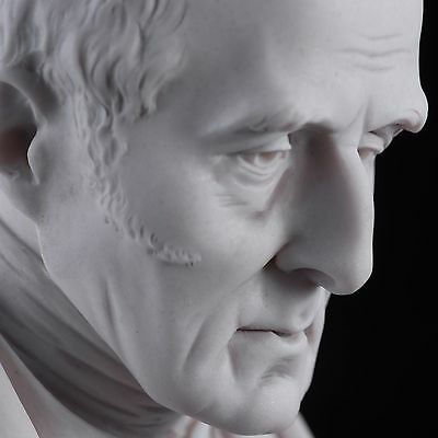 Duke of Wellington, Arthur Wellesley, Classic Marble Bust, Sculpture. Art, Gift.