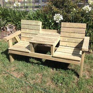 Rustic Outdoor Jack And Jill Seat