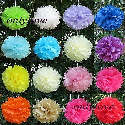 10pcs Tissue Paper Pom Poms Flower Ball Wedding Party Birthday Decor 6
