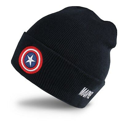 Marvel - Captain America - Mens - Beanie Hat - Navy - One Size ()