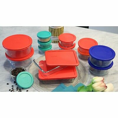 Pyrex Food Storage Rectangle Round CONTAINER Red Green Orange Blue1/2/3/4/6/7cup 6 Cup Rectangle Storage
