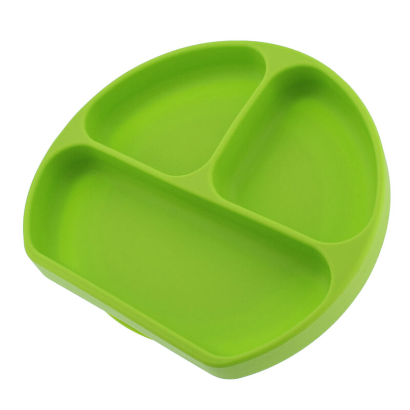 7Penn Silicone Baby Plate with Suction Base Divided Toddler Plate Feeding Tray