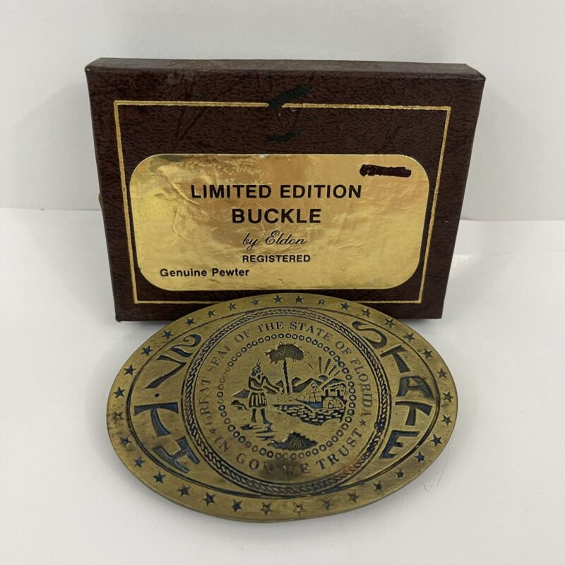 Florida Belt Buckle Eldon 1st Edition With Box 27th State
