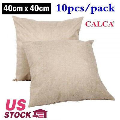 10pcspack 40cm X 40cm Linen Sublimation Blank Pillow Case Cushion Cover - Usa