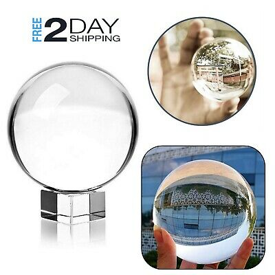 80mm Clear Glass Crystal Ball Healing Sphere Photography Photo Lens Prop Decor
