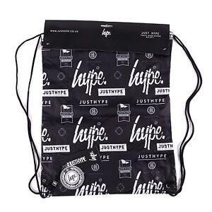 Hype-Repeat-Logos-Bolsas-de-deporte-Gymsack-deportes-multicolor-negro-93048