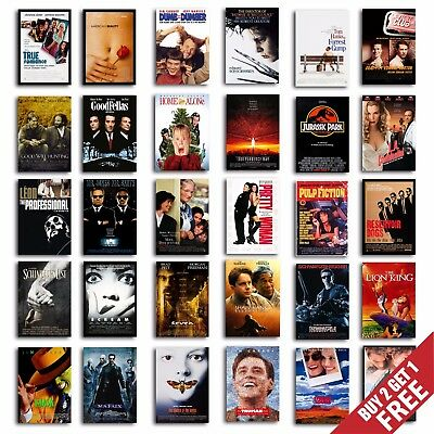 CLASSIC 90s MOVIE POSTERS, A3 A4 Size Film Art Print for Home Decor Gift - 90s Decorations Ideas