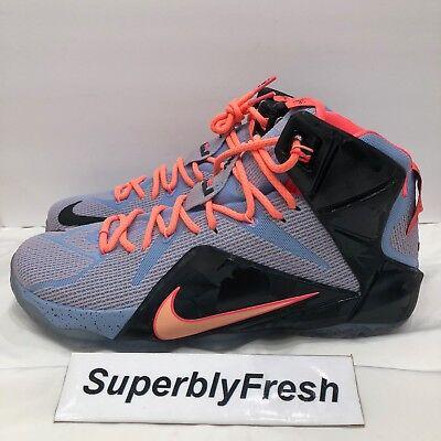 4b4bcdea218 NEW 2014 Nike Lebron James XII Men s Basketball Shoes 684593-488 SZ 10.5  elite
