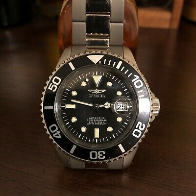 Invicta Men's 0420 Pro Diver Automatic 45mm Black Dial Titanium Watch