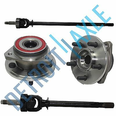 NEW Front Left and Right CV Drive Axle shaft U-Joint + 2 Wheel Hub Bearing 4WD