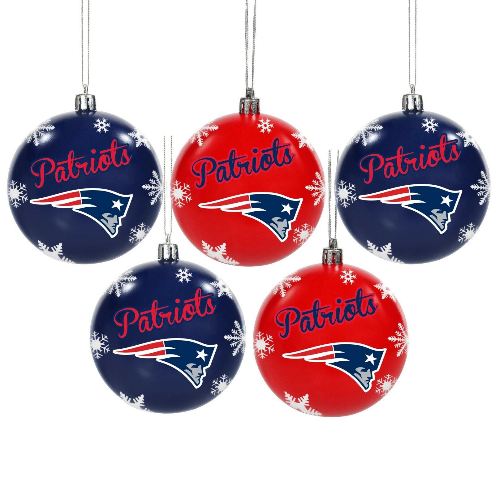 New England Patriots Shatterproof BALLS Christmas Tree Holid
