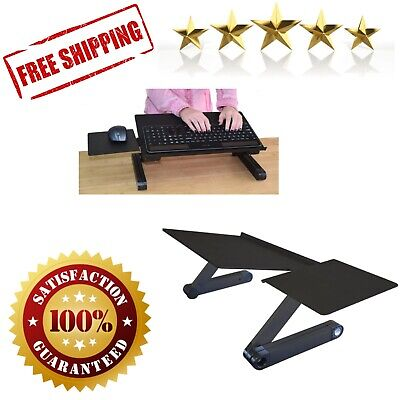 Keyboard Mouse Tray Ergonomic Adjustable Height Sit To Stand Up Desk Table Black