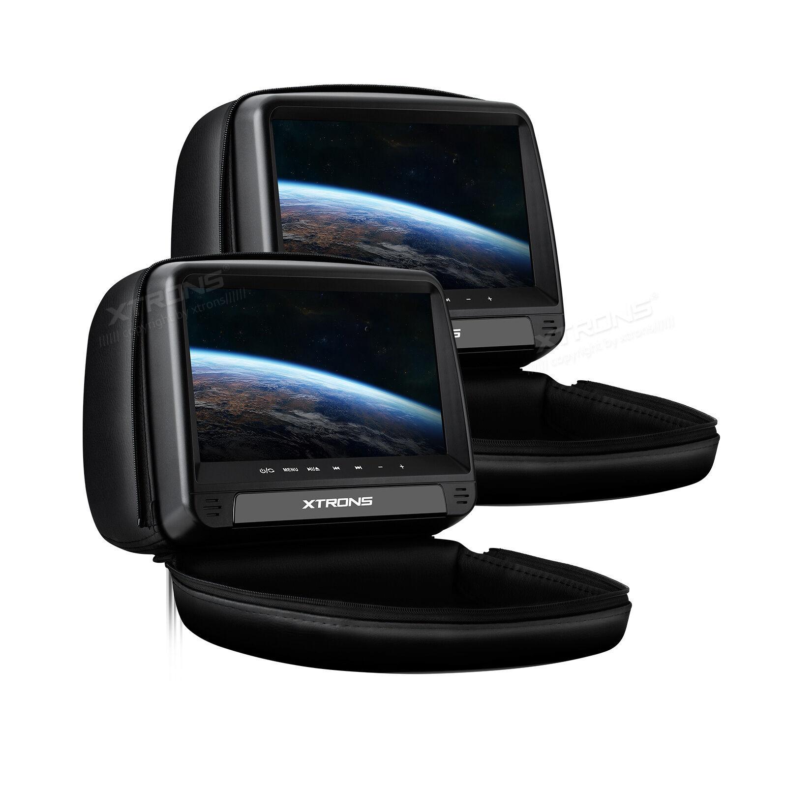 2x 10 1 zoll auto kopfst tze monitor dvd player. Black Bedroom Furniture Sets. Home Design Ideas