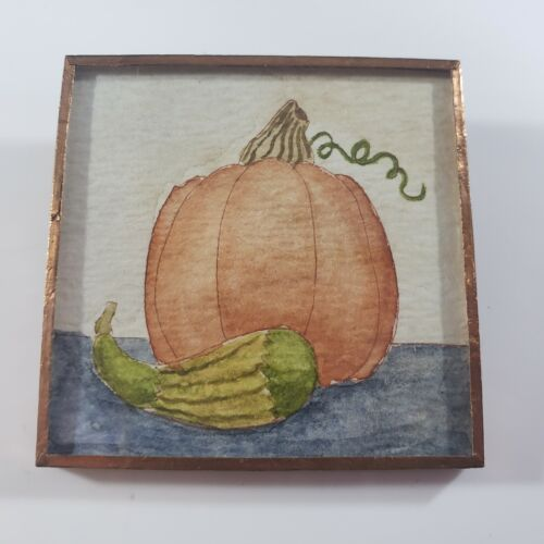 Thanksgiving Autumn Fall Handcrafted Brooch Pin Pumpkin Picture By Jacquelynne