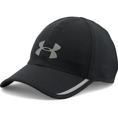 NEW UNDER ARMOUR Heat Gear Armourvent Shadow Running Hat Cap men 1278207 Black