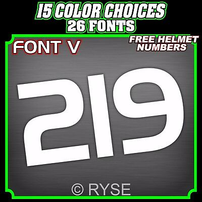 3 Motorcycle Number Plate Decals Stickers BMX MX ATV Go Kart Race Dirt Bike