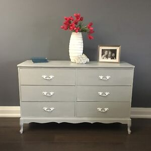 Vintage wood dresser french provincial chest of drawers