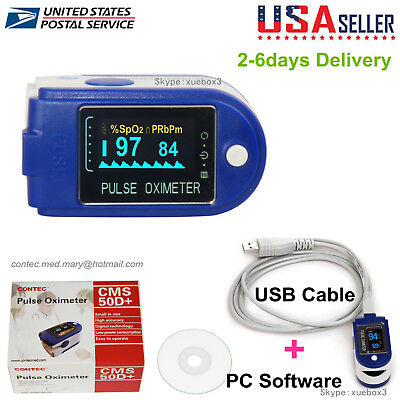 24hour Sleep Fingertip Pulse Oximeter Blood Oxygen Monitor Spo2 O2 Sensorusa