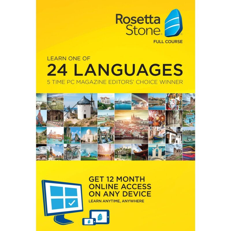 New Rosetta Stone Learn 1 Of  24 Languages 12 Month Online Access PC-MAC Mobile