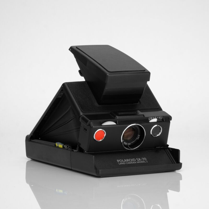 Polaroid SX-70 Model 2 Black Folding Instant Film Camera