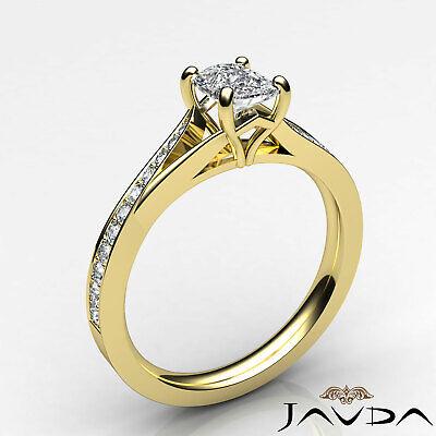 Split Shank Pave Setting Cushion Shape Diamond Engagement Ring GIA F VS1 0.68Ct 8
