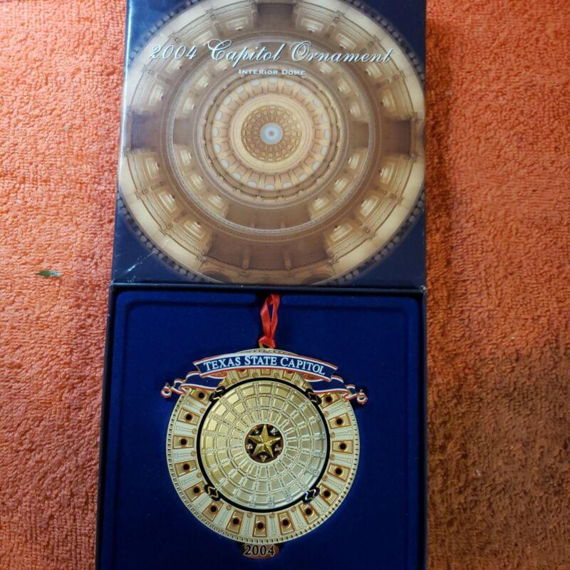 """2004 Texas State Capitol Ornament """"Interior Capitol Dome"""" Original box"""
