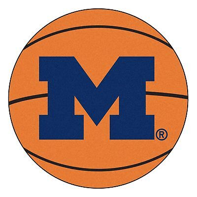 University of Michigan Wolverines Basketball Area Rug - Michigan University Basketball Rug