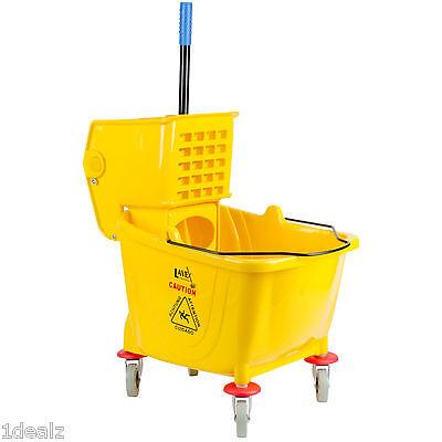 Industrial Lavex Janitorial Yellow 36 Quart Mop Bucket & Wringer Combo + 5 bonus