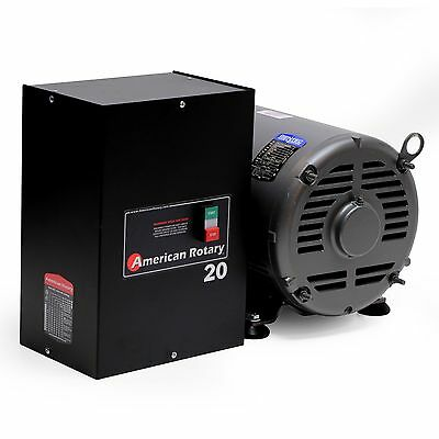 American Rotary Phase Converter AR20 - 20 HP 1 to 3 Three PH Made is USA