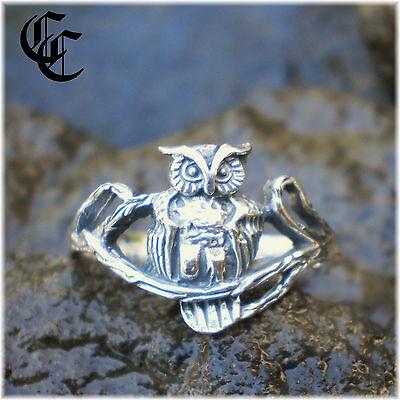 Size 6 MYSTIC OWL RING Sterling Silver Wicca Goddess Athena Blodeuwedd Jewelry