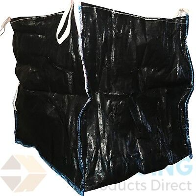 100 x 1 Ton BLACK Bulk Bag Builders Rubble Sack Tonne Jumbo Waste Storage NEW