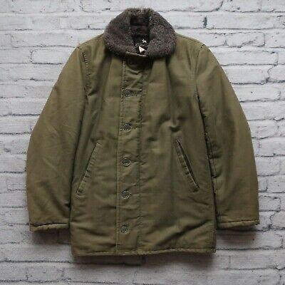 Vintage 70s Golden Fleece N-1 Deck Jacket Size 34 Made in USA US Navy USN