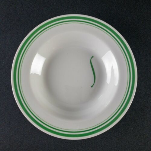 """Shamrock Hotel Houston 8.875"""" Soup Plate Pine Grill Restaurant Ware By Iroquois"""