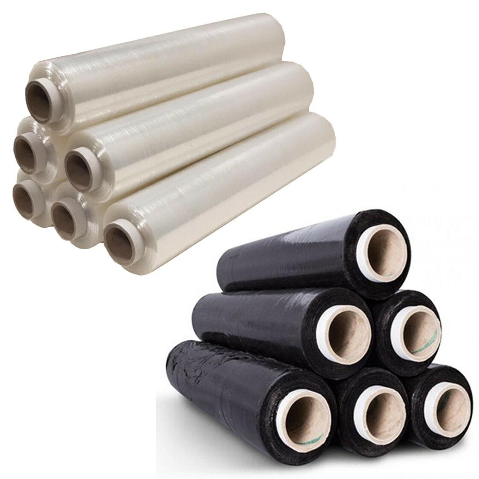 20mu 3 x rolls CLEAR Pallet Stretch Shrink Wrap 500mm x 300m