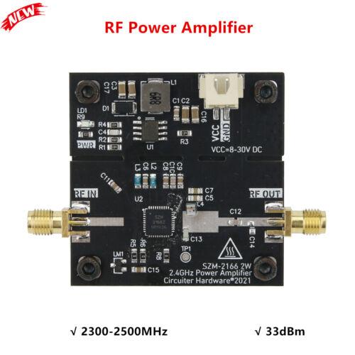 SZM2166 RF Power Amplifier 2.4GHz 2W 33dBm 8-23V DC for Signal Amplification