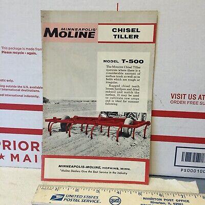 Minneapolis-moline Chisel Tiller T-500 Ad . Item 1385