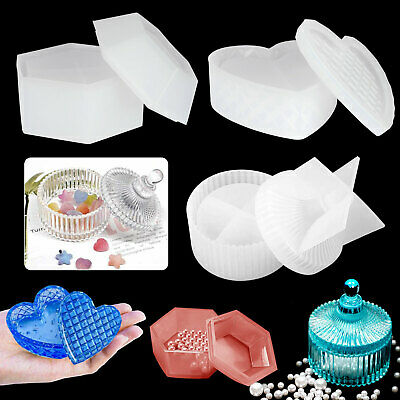 Silicone Storage Mold Resin Jewelry Pendant Making Mould Cas