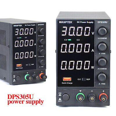 5a 30v Dc Power Supply Adjustable 4 Digitals Variable Precision Lab Grade