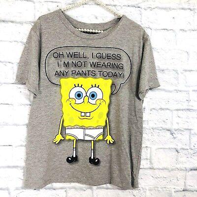 Spongebob Squarepants No Pants (Nickelodeon M  T-Shirt SpongeBob SquarePants No Pants NEW)