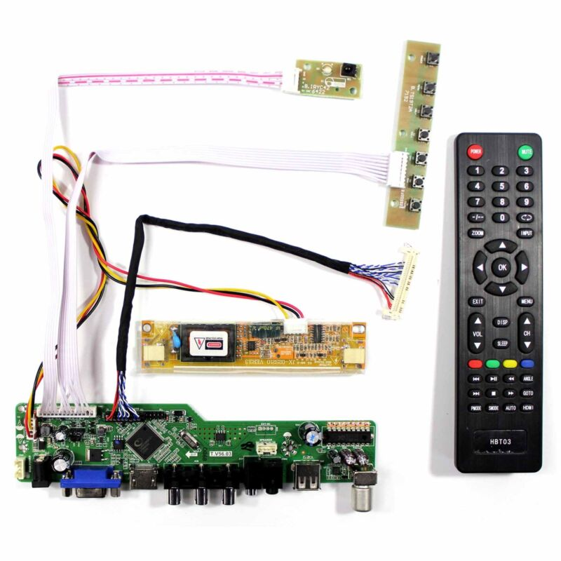 TV HDMI VGA AV USB LCD Control Board For 18.5in LM185WH1 M185XW01 M185B1 LCD