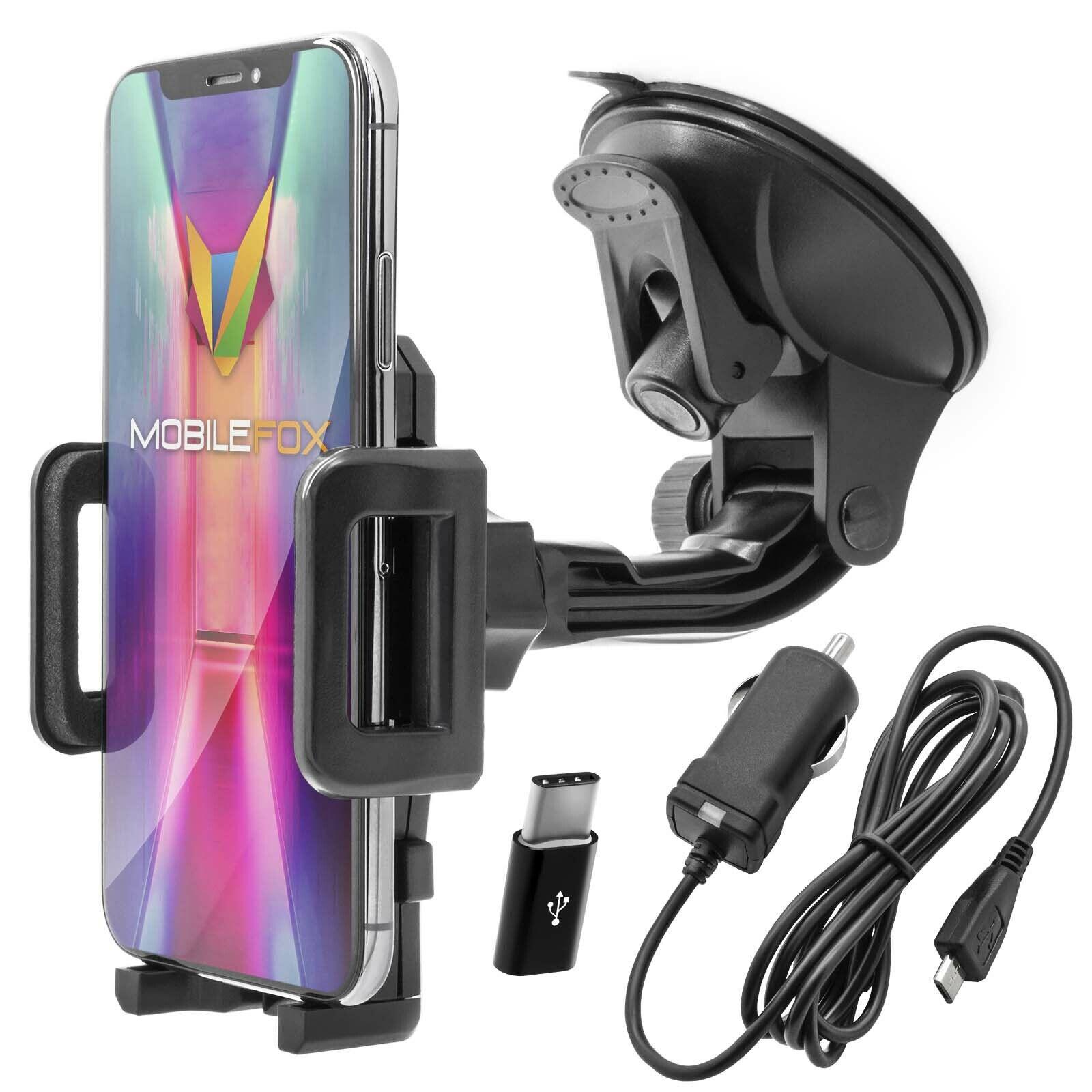 KFZ Auto Handy Halter Halterung Ladekabel Set für Samsung Galaxy S10 S9 S8 Plus